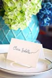 BonBon Paper Premium Quality Embossed Edge Fold Over Tent Place Cards