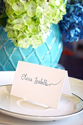 BonBon Paper Premium Quality Embossed Edge Fold Over Tent Place Cards - Edge Place Card