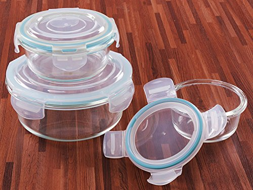 Glass Food Storage Container Set 18 Pieces 9 containers9 lids