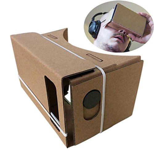 Lisingtool 6 inch DIY Google Cardboard 3D VR Virtual Reality Glasses Hardboard