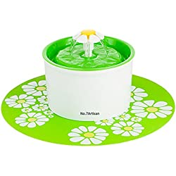 NO.7Artisan Pet Flower Fountain Automatic Electric Water Bowl (Green)