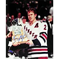 NHL New York Rangers Brian Leetch Conn Smythe Vertical Photograph