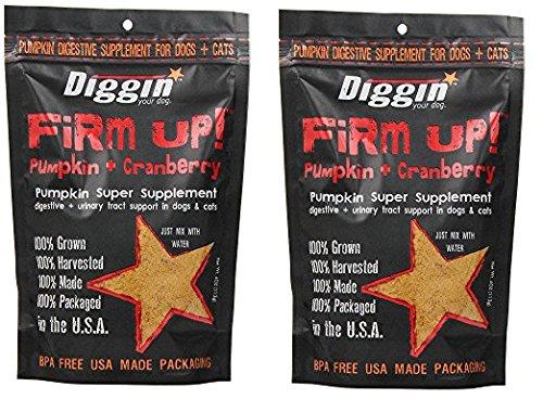 Diggin Your Dog xMlJxQ Firm Up Pumpkin Supplement, Pumpkin and Cranberry, 9.5H X 6.5W X 2.5D (Pack of 2) by Diggin' YouQ Hog