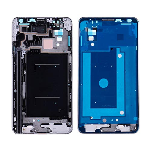 HuntGold2 LCD Display Screen Digitizer Frame Replacement for Samsung Galaxy Note 3 N900A N900T US-90A;Silver (Note3 Screen Replacement Lcd)
