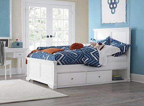 NE Kids Walnut Street Devon Panel Bed with Storage, White, Full - Lifestyle Cherry Bed Set