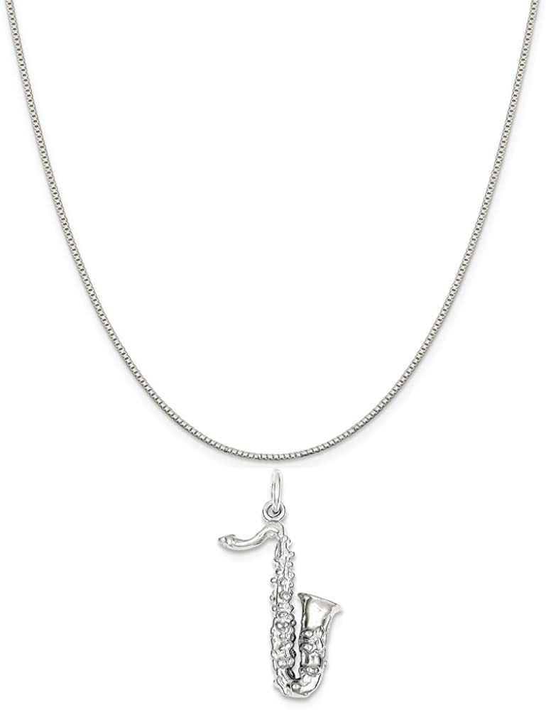 16-20 Mireval Sterling Silver Lighthouse Charm on a Sterling Silver Chain Necklace