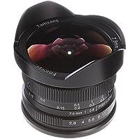 7artisans 7.5mm F/2.8 Wide Angle Fisheye Lens MF Manual Focus for Canon EOS EF-M Mount M M2 M3 M5 M6 M10 M50 M100 Dslr Cameras