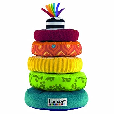 Lamaze Rainbow Stacking Rings Developmental Toy from TOMY
