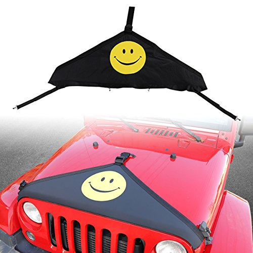 Front Hood Cover Bra Protector Cover T-Style Protector Kit for 2007-2018 Jeep Wrangler JK Rubicon Sahara Sport Sport-S