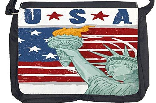 Borsa Tracolla Viaggio Mondo Patriottismo USA Stampato