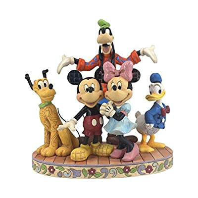 Jim Shore Disney Traditions by Enesco Fab 5 Mickey, Minnie, Donald, Goofy and Pluto Figurine
