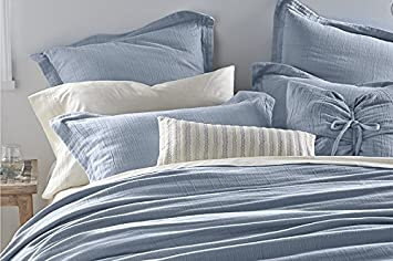 dkny pure indulge washed blue king size duvet comforter cover 100 percale cotton