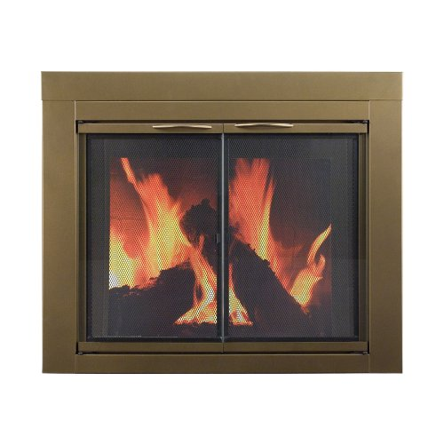 Pleasant Hearth Ashlyn Small Glass Fireplace Doors