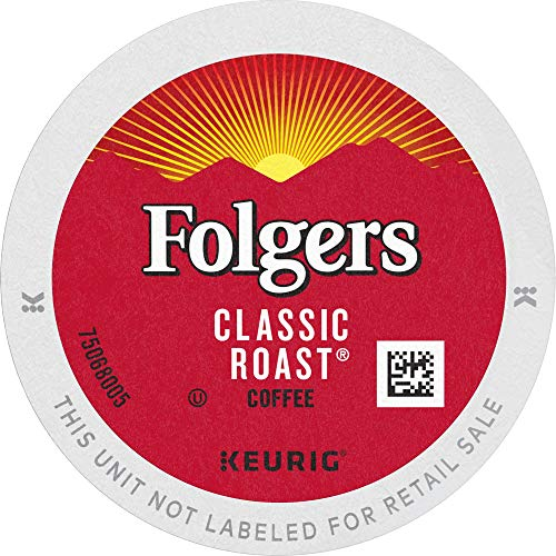 Folgers K Cups Classic Roast Medium Roast Coffee, 96 K Cups for Keurig Coffee Makers, Medium Roast, 96Count
