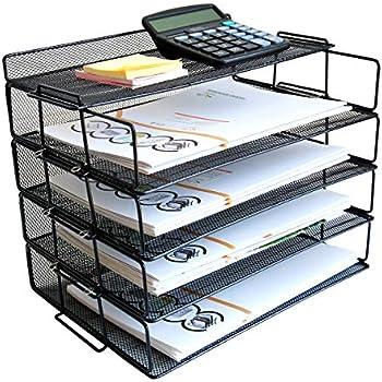 Amazon.com: Bandeja organizadora de escritorio – Bandeja ...