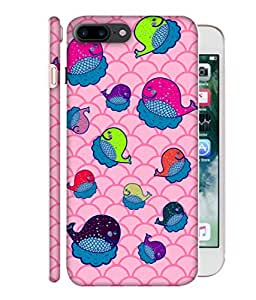 ColorKing Apple iPhone 7 Plus Case Shell Cover - Whales 002 Multi Color