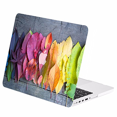 TOP CASE - Retina 15-Inch Autumn Spectrum Graphic Rubberized Hard Case Cover Compatible with Apple MacBook Pro 15 with Retina Display (Release 2012-2015) Model: A1398 – Rainbow Leaves