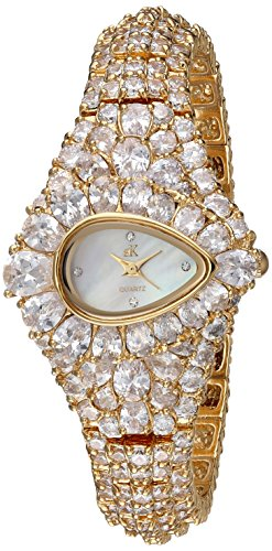 Adee Kaye Women's Quartz Brass Dress Watch, Color Gold-Toned (Model: ()