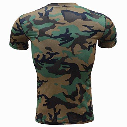Deporte Slim Moda Camisas Polos Originales Remera Secado Camuflaje Camisetas Verde Hombre Casual Corta Manga Rápido Militar Personalidad Luckygirls zwxqAP1n