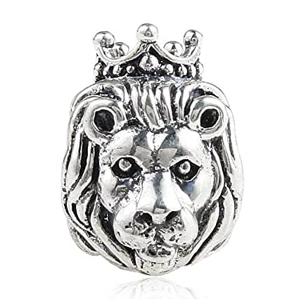 d084a651d Lion King of the Jungle 925 Sterling Silver Bead Fits Pandora Charm  Bracelet by The Kiss: Amazon.co.uk: Kitchen & Home