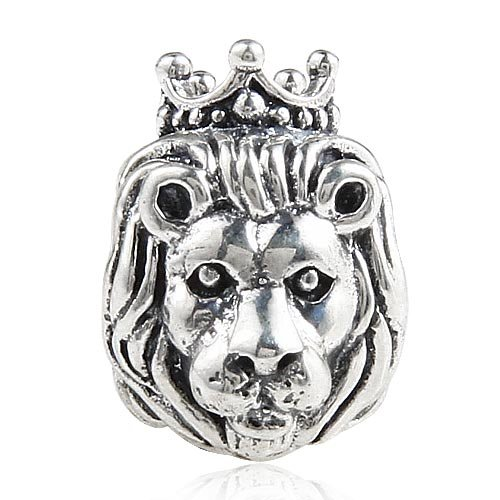 (Lion Charm 925 Sterling Silver Beads fit Fashion Charms Bracelets Lion Charm 925 Sterling Silver Beads fit Fashion Charms Bracelets (crown lion))