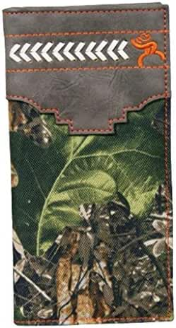 HOOey Western Wallet Mens Rodeo Roughy Camo Green Gray