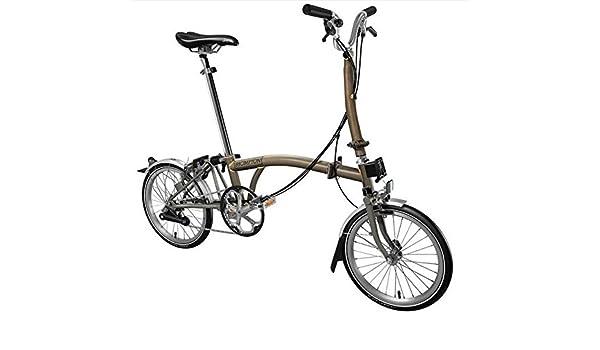 Brompton H6L Superlight 2017 - Brompton de titanio para bicicleta plegable: Amazon.es: Deportes y aire libre