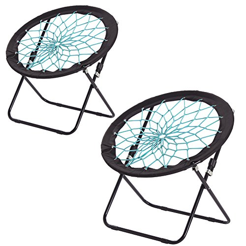 CampLand Bunjo Bungee Dish Chair Folding Camping Relax Fun Chair, set of 2 by CampLand