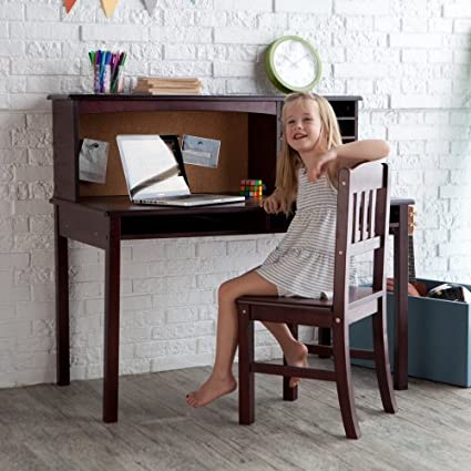 Kids Media Desk U0026 Chair Set   Espresso