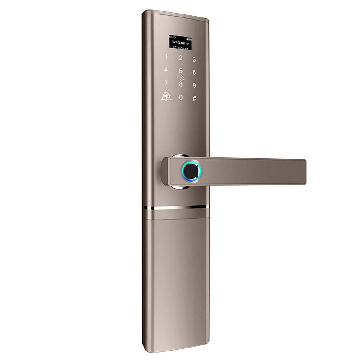 Love of Life Smart Door Locks for Homes Fingerprint Lock Digital Password Lock Support IC Magnetic Card Unlock/Phone APP Remote Unlock,Gold