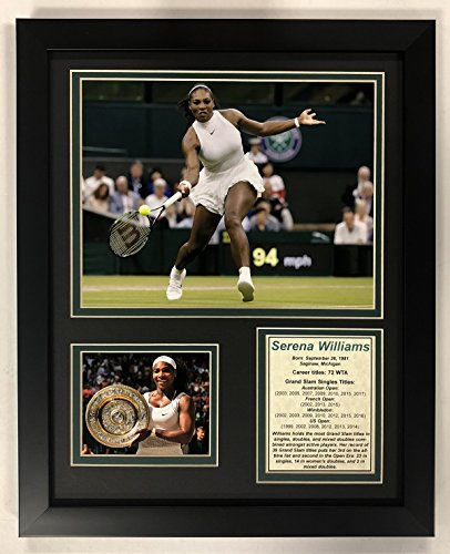 "Legends Never Die Serena Williams - Framed 12""x15"" Double Matted Photos"