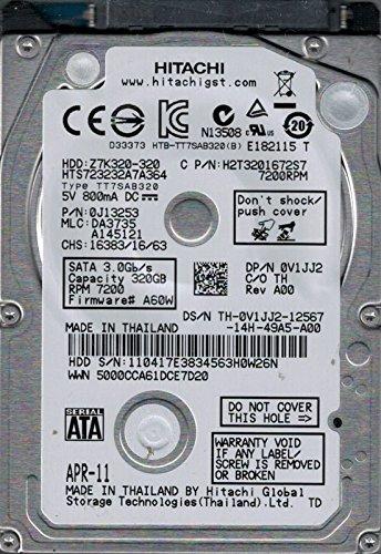 HTS723232A7A364 P/N: 0J13253 MLC: DA3735 Hitachi 320GB