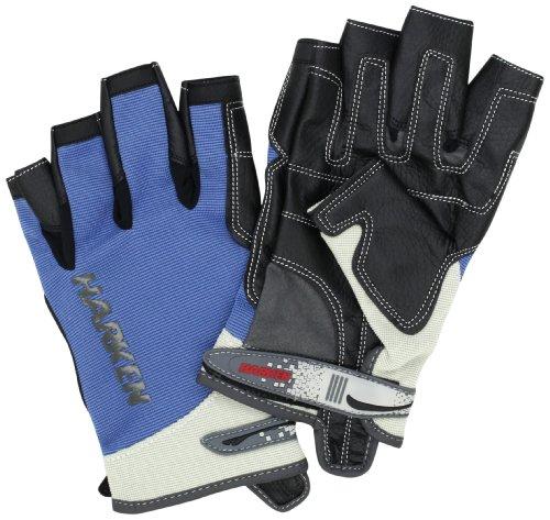 Harken Sport Spectrum 3/4 Finger Gloves, Blue, Medium