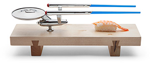 Star Trek U.S.S. Enterprise Sushi Set | ThinkGeek
