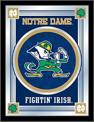 - Holland Bar Stool Co. NCAA Notre Dame Fighting Irish Leprechaun Logo Mirror, 17 X 22-Inch