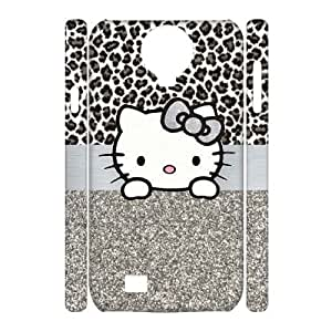 wugdiy Custom 3D Case for SamSung Galaxy S4 I9500 with Personalized Design Cute Leopard