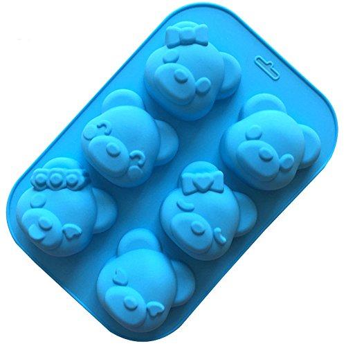 Fondant Mould Silicone 3d Cake Mold 1PCS 3D Carton Lovely Bear Shape Cake Mold Cake Decorating Tools Mold Silicone Mold Fondant Cookie,Chocolate Mold ()