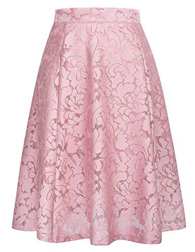 Women Beautiful Flowing A-line Flared Swing Midi Skirt Size S (Beautiful Skirt)
