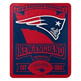 "The Northwest Company Officially Licensed NFL New England Patriots Marque Printed Fleece Throw Blanket, 50"" x 60"", Multi Color"