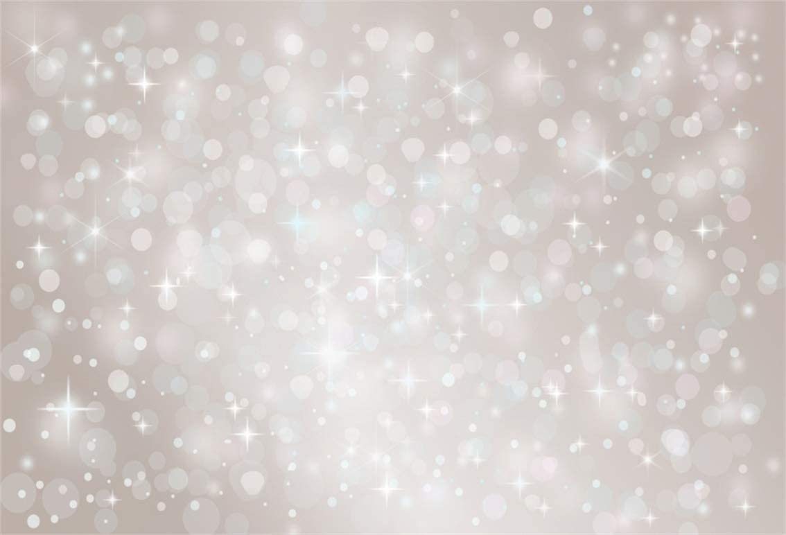 ML 7x5 Photography Backdrop Light Blue Ocean Stary Glitter Bokeh Photo Background for Baby Shower Seamless Backgrounds for Kids Party