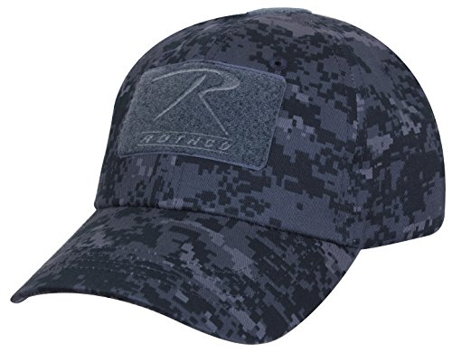 Polyester Digital Camo (Rothco Tactical Operator Cap, Midnight Digital Camo)