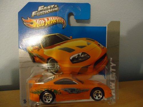 Hot Wheels Short Card HW City Fast & Furious Toyota Supra Orange #5/250