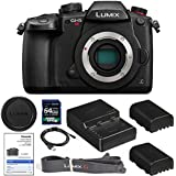 Panasonic Lumix DC-GH5S Mirrorless Micro Four Thirds Digital Camera (Body Only) with 1200 x 64gb SDXC Card, (2) BLF19 Batteries, Charger, Neckstrap, Body Cap AOM Starter Kit - International Version