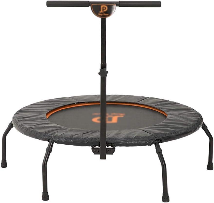 LT トランポリン子供のおもちゃの跳ね上がりのベッドの肘掛けが付いている跳躍のベッドの大人の家の適性装置のトランポリン軸受け重量130kg(色:黒、サイズ:111.7 * 111.7 * 154CM) (Color : 黒, Size : 111.7*111.7*154CM) 黒 111.7*111.7*154CM