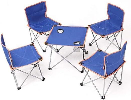 WOYQS Silla Camping Silla plegable ligera Silla for acampar Mesa ...