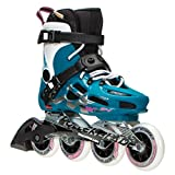 Rollerblade Maxxum 84 Womens Inline Skates - 8.0/Petrol Blue-White