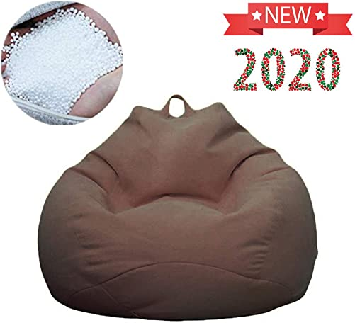 QBABY Lazy Soft Beanbag Chair Memory Foam Bean Bag Seat Chair with Micro Fiber Cover Tatami with Particle Filler for Kids, Teens, Adults