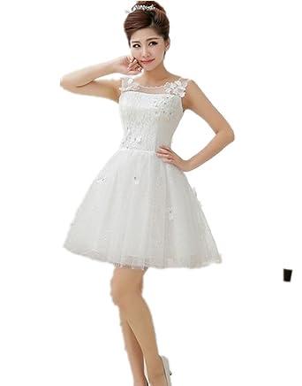(上海物語)Shanghai Story レディーズ レースドレス 白いレースのドレス 袖なし 小花
