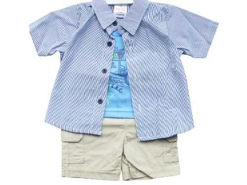Price comparison product image Octave Baby Boys 2 Piece Set - Shorts,  T-Shirt - Size 18-23 Months,  Blue / Khaki