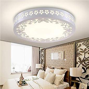 Dormitorio moderno minimalista LED lámparas de techo redondo ...